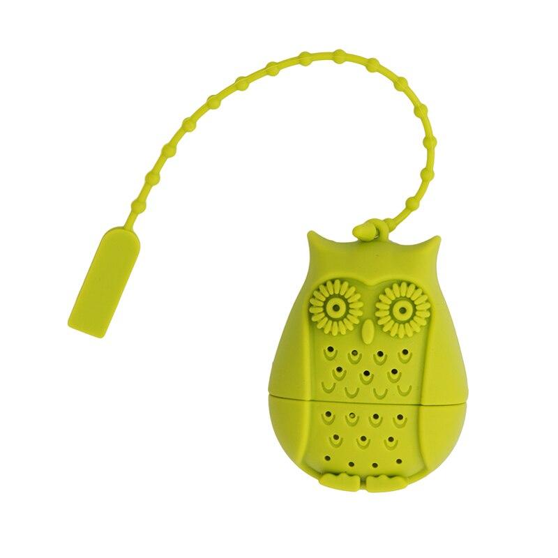 Owl Tea Strainers Silicone Teaspoon Tee Filter Infuser Silicone Filtration Tea Strainer Stick Coffee & Tea Tools QW893636