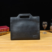 PACGOTH Setting Men S Crazy Horse PU Leather Breifcases 10 Inch Retractable Casual Original Business File