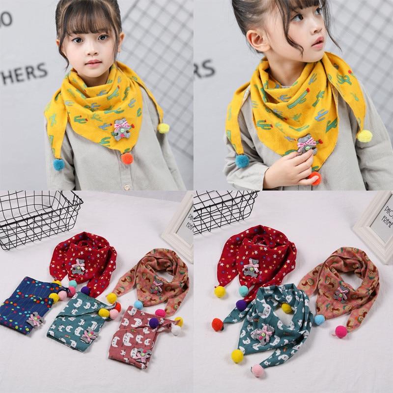 Toddler Baby Kids Neck Shawl Boy Girl Cotton Warm Scarf Neckerchief Scarves