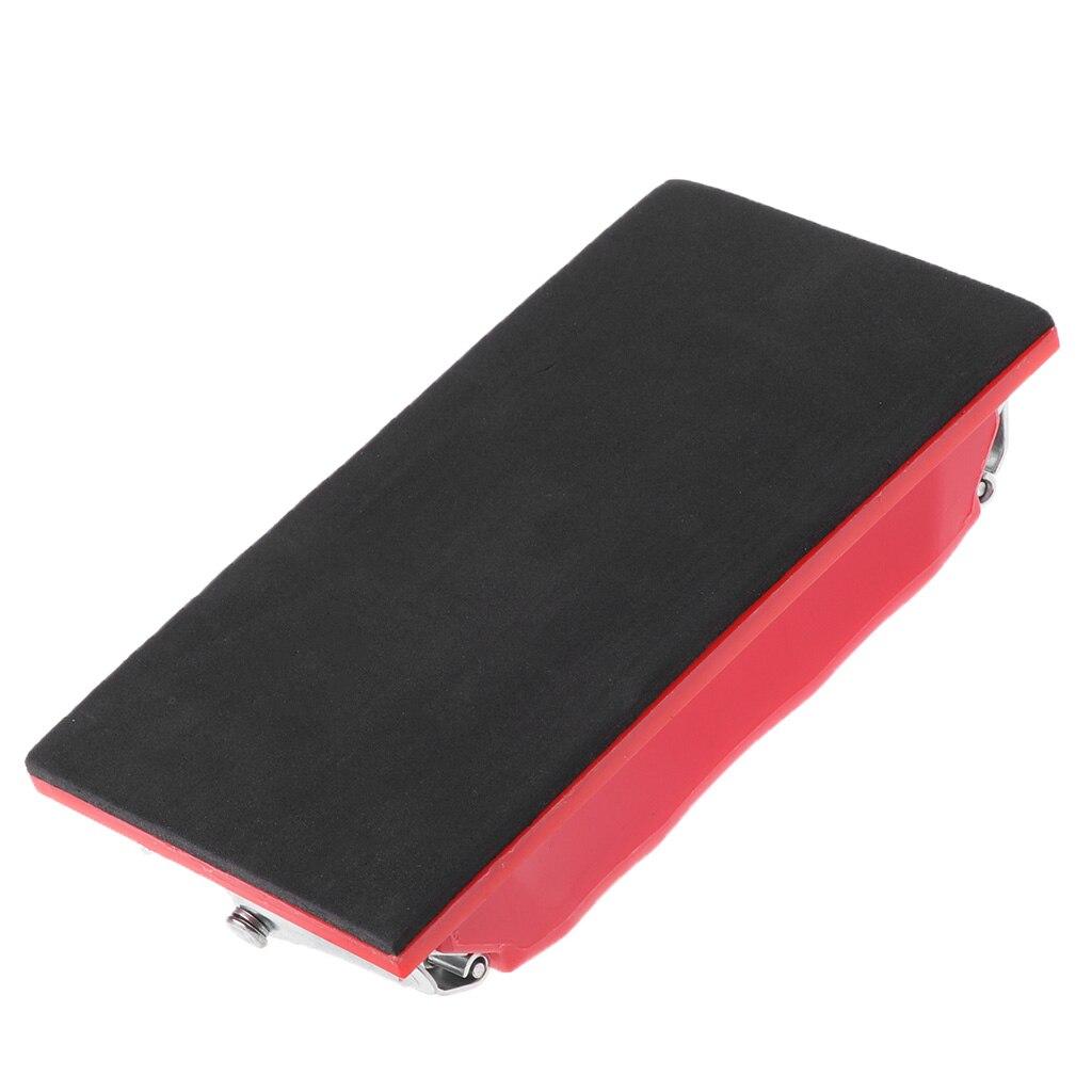 Rectangle Paper Grit Sandpaper Holder Hand Sander Red Black Small/Large