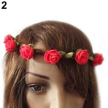 Hot Boho Style  Rose  Floral Flower Festival Party Wedding Hairband Headband  Hairwear for Women Girls 5BOR 7EVJ