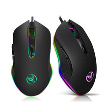 Gaming Wired Mouse USB RGB Macro Programming Game Light Mice Esport 4800dpi Adjustable For PC Gamer