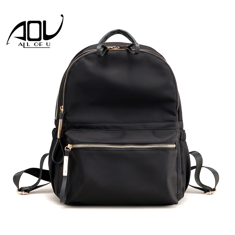 Hot Selling Womens Small Backpack Simple Travel School Rucksacks 4 Colors Black Student Fashion Backpacks For Teenage Girls