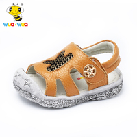 Wuawua brand hoge kwaliteit baby boy sandalen lederen baby zomer schoenen ademend zachte peuter schoenen baby tuin schoenen