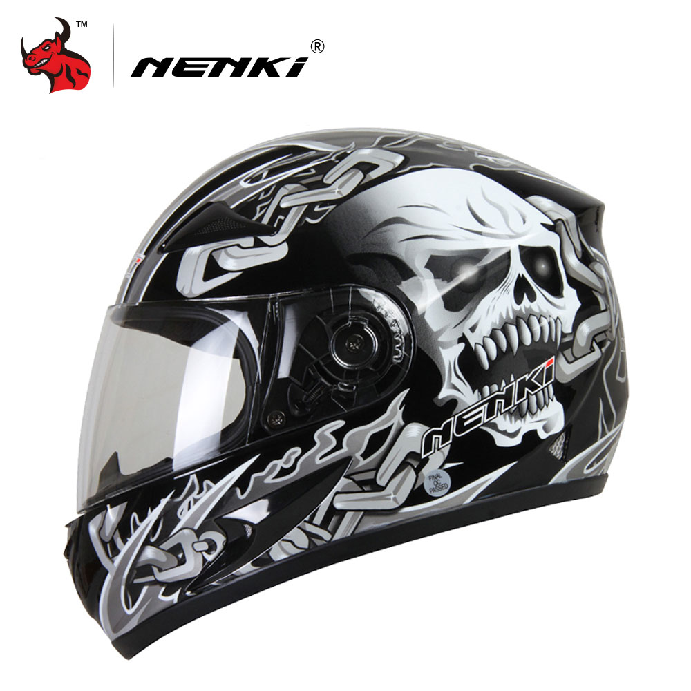 NENKI Motorhelm Moto Motocross Helm Motorfiets Volgelaats Helm Casco Moto For Men And Women