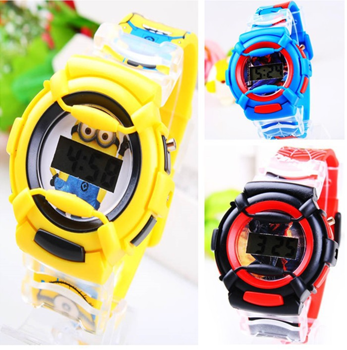 2014-New-Fashion-Cartoon-Despicable-Me-Minion-Watch-Children-Silicone-Digital-Sports-Wristwatches-Boys-Spiderman-Watch