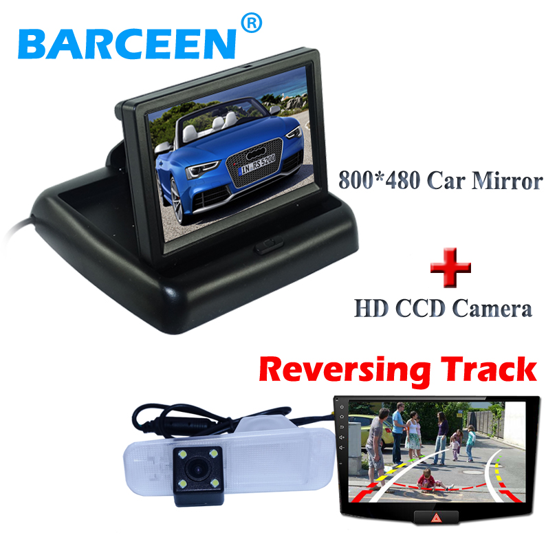 In-Dash placement 4.3 car monitor + Dynamic track line special car rearview camera use for Kia K2 rio Sedan