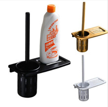 Creative Black Bathroom Toilet Brush Holder Set Toilet Brush and Holder Cleaning Brush with Storage Holder Bathroom Accessories