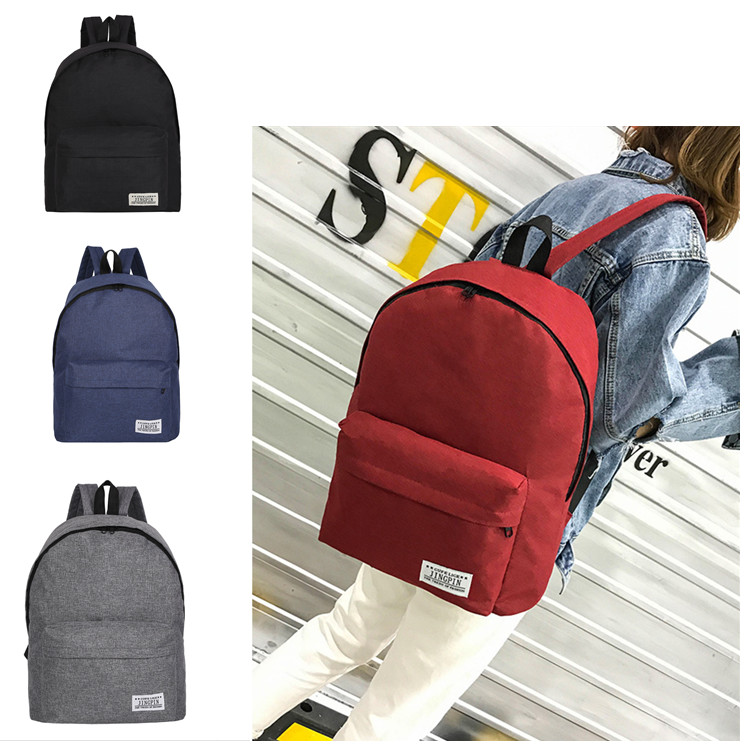 Men Male Canvas Black Backpack College Student School Backpack Bags For Teenagers Mochila Casual Rucksack Travel Daypack