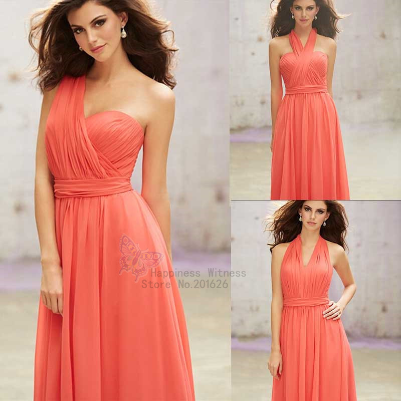 Online Get Cheap Bridesmaid Dresses Coral Color Aliexpress