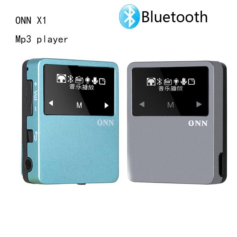 New Mini ONN X1 8GB Clip Sport MP3 Player Bluetooth Metal Portable with FM Radio Pedometer