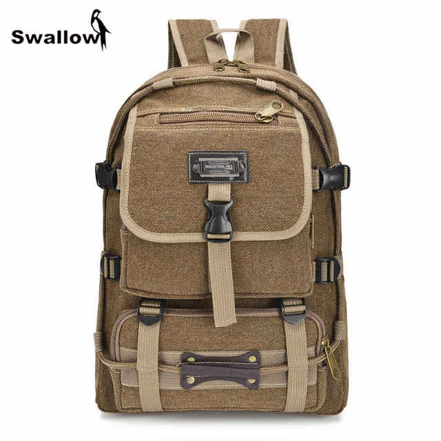 Multifunctional Casual Canvas Backpack Men Travel Field Men Backpack With Pocket Collage School Bag Male Mochila Masculina