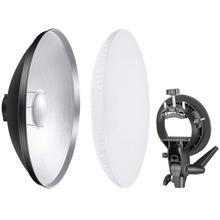 Neewer Photo Studio 16 inches/41 centimeters Beauty Dish Aluminum Lighting Reflector with White Diffuser and S-Type Flash Bowens