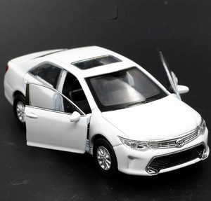 Image 1 - 1:36 alloy pull back Toyota Camry model, high simulation 2 open door car toys, metal castings, toy vehicles, free shipping