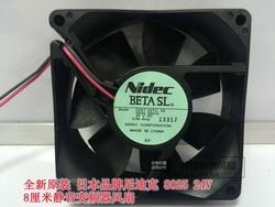 Nowy NIDEC D08T-24TG 8025 24 V 0.08A 8 CM cisza wentylator chłodzący przetwornica częstotliwości
