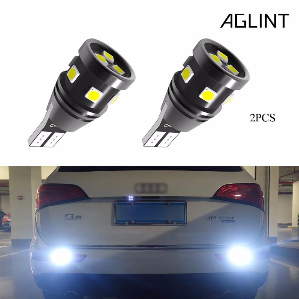 AGLINT 2PCS T15 921 912 LED Reverse Bulb CANBUS No Error 9-SMD 3030 Chipsets 12V-24V W16W Backup Reverse Led Lights White 6pcs extremely bright error free t15 led bulb 921 912 t15 wedge w16w led canbus bulbs stop backup reverse lights white 6000k 12v