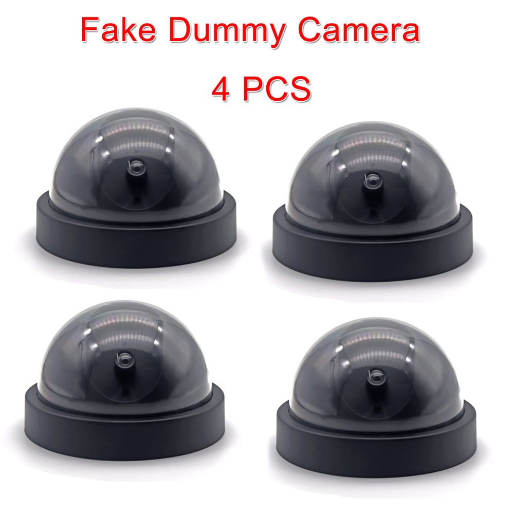 4Fake Decoy Dome Camera Home Dummy Security CCTV Warning LED Surveillance Safety