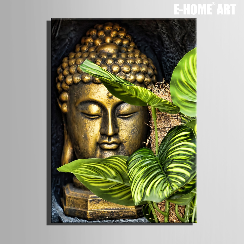 Modern buddha paintings images for Contemporary mural