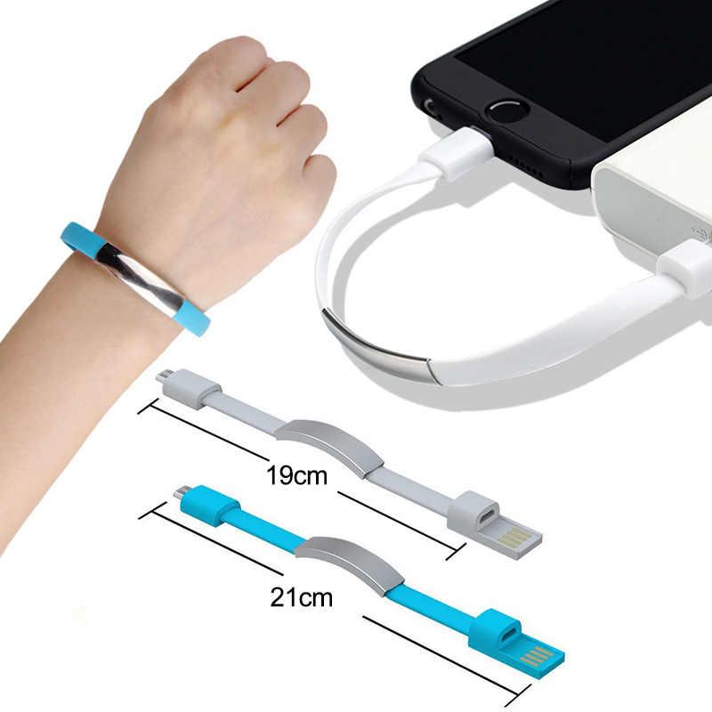جديد سوار المصغّر USB نوع C كابل يو إس بي بيانات كابل شحن ل فون XS ماكس XS X 8 الروبوت USB الهاتف شاحن هواتف xiaomi mi8 9