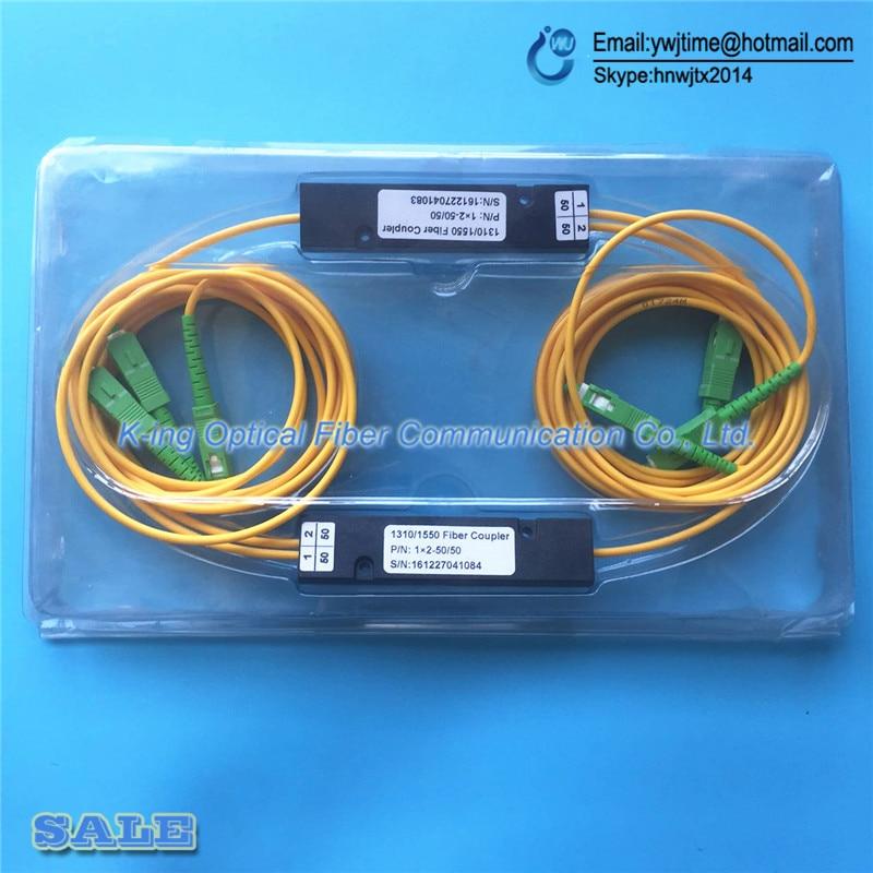 bilder für 10 STÜCKE SC APC 1X2 PLC Singlemode-glasfaser Optische splitter FTTH PLC SC/APC 1x2 PLC glasfaser-splitter FBT Optische Koppler