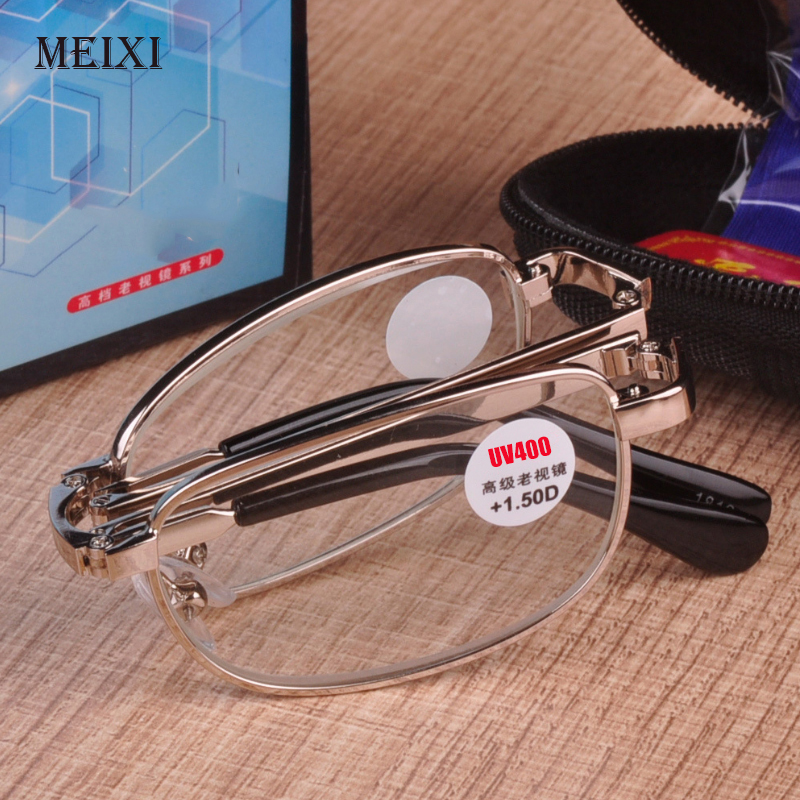 Folding Reading Glasses UV400 Anti-blue Light Radiation Women Men Eyewear Diopter +1.0 1.5 2.0 2.5 3.0 3.5 4.0