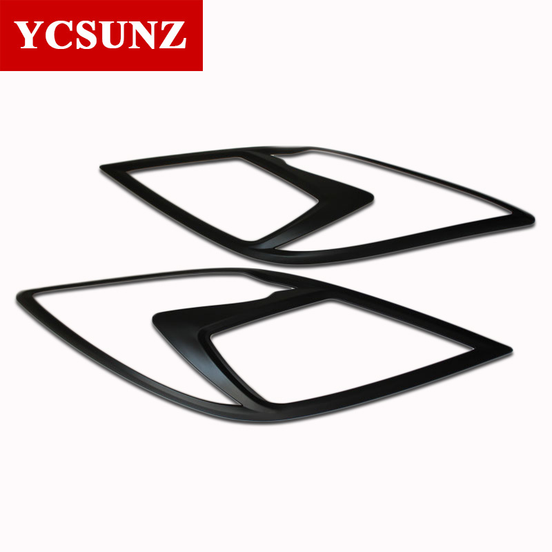 Car Accessories Matte Black Headlamp Headlight Cover For Mazda BT 50 2012 2019
