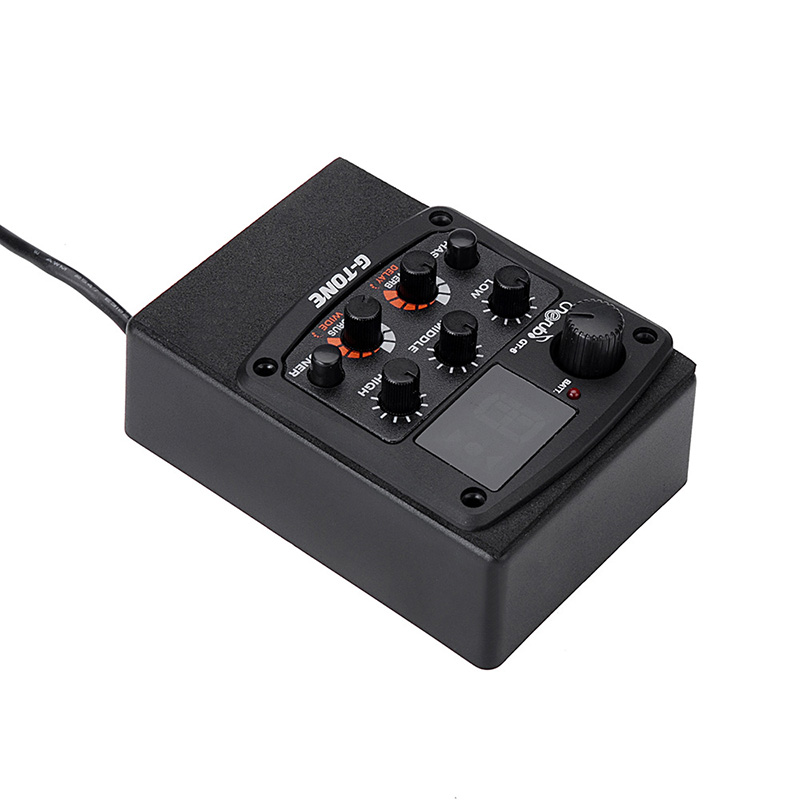 Image 4 - Cherub GT 6 Acoustic Guitar Preamp Piezo Pickup Reverb Delay Chorus 3 Band EQ Equalizer LCD Tuner Wide Effect Musical Instrument-in Guitar Parts & Accessories from Sports & Entertainment