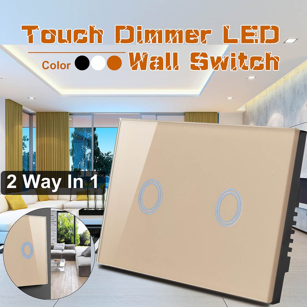 SWILET 120 Type Two Way Sensor Touch Switch 110V-240V Crystal Glass Panel Touch Switch Remote Control For Light LEDSWILET 120 Type Two Way Sensor Touch Switch 110V-240V Crystal Glass Panel Touch Switch Remote Control For Light LED