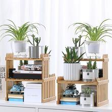 Plant Shelves Flower Garden Rack Stand Flower Display Stand Bamboo Display  Stand Bamboo Shelf Stand Holder