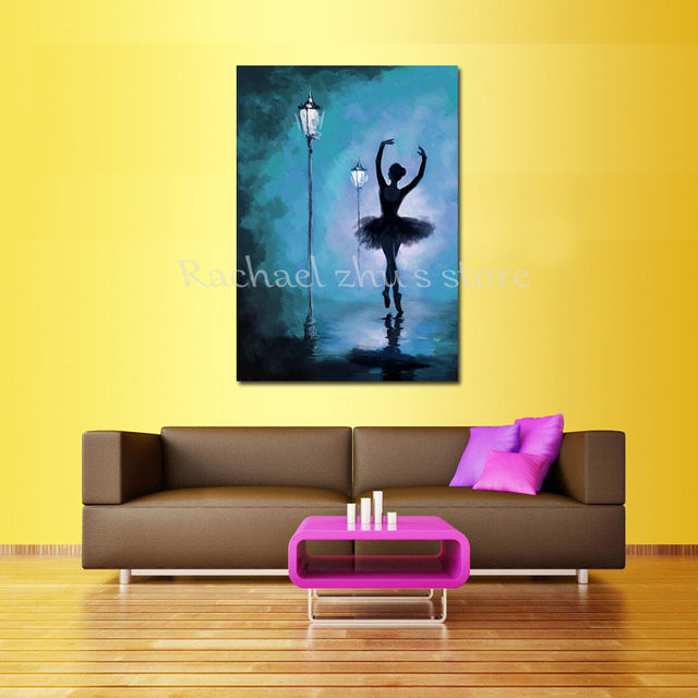 Online Shop Hand Painted Modern Abstract Ballerina Oil Paintings On ...