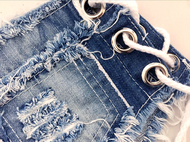 2018 Summer Sexy Women 39 s Irregular Low Waisted Mini Shorts Slim Fit Denim Jeans Solid Color Sky Blue Micro Jean Hot Shorts in Shorts from Women 39 s Clothing