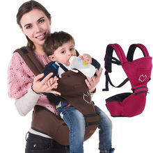 Хлопок Baby Перевозчик Слинг Эргономичный Кенгуру 360 Фронтальная Hipseat Кенгуру Wrap Слинг Дети Коляска BD58