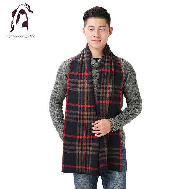 [YWJUNFU] 2016 Homens Da Marca Cachecol Inverno Cachecóis Masculinos de Negócios Designer de Moda da Manta de Lã Quente Xale de Cashmere Wraps YJF001