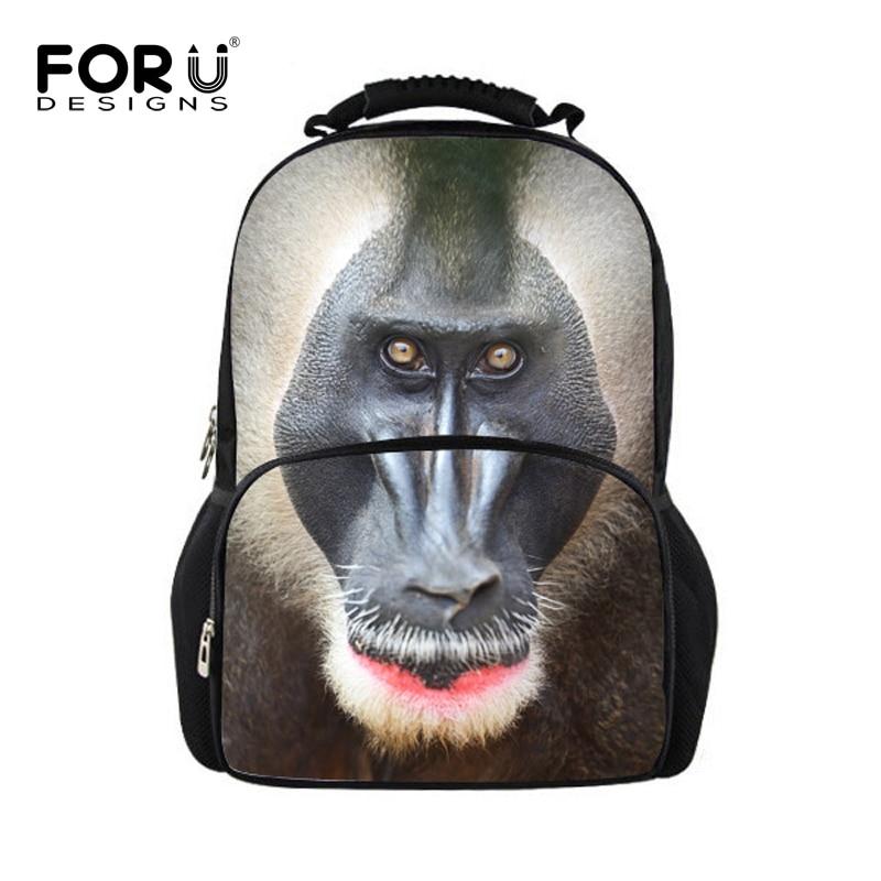 1942060bcbad1 الشهيرة العلامة التجارية Orangutant الطباعة على ظهره للبنين الطلاب لطيف  القرد عارضة Mochilas المراهقات عالية الجودة حقيبة Mochila