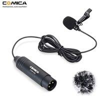 Компактный кардиоидный петличный микрофон COMICA CVM V02C XLR 48 В с фантомным питанием для камер Canon Sony Panasonic