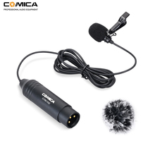 COMICA CVM-V02C XLR 48V Phantom Power Cardioid Lavalier Lapel Microphone for Canon Sony Panasonic Camcorder ZOOM Recorder