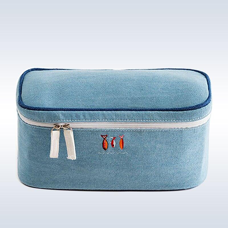 Gepäck & Taschen Bh Unterwäsche Denim Material Reisetaschen Koffer Organizer Frauen Reisetaschen Gepäck Organizer Für Dessous Kultur Wash Taschen Taille Und Sehnen StäRken