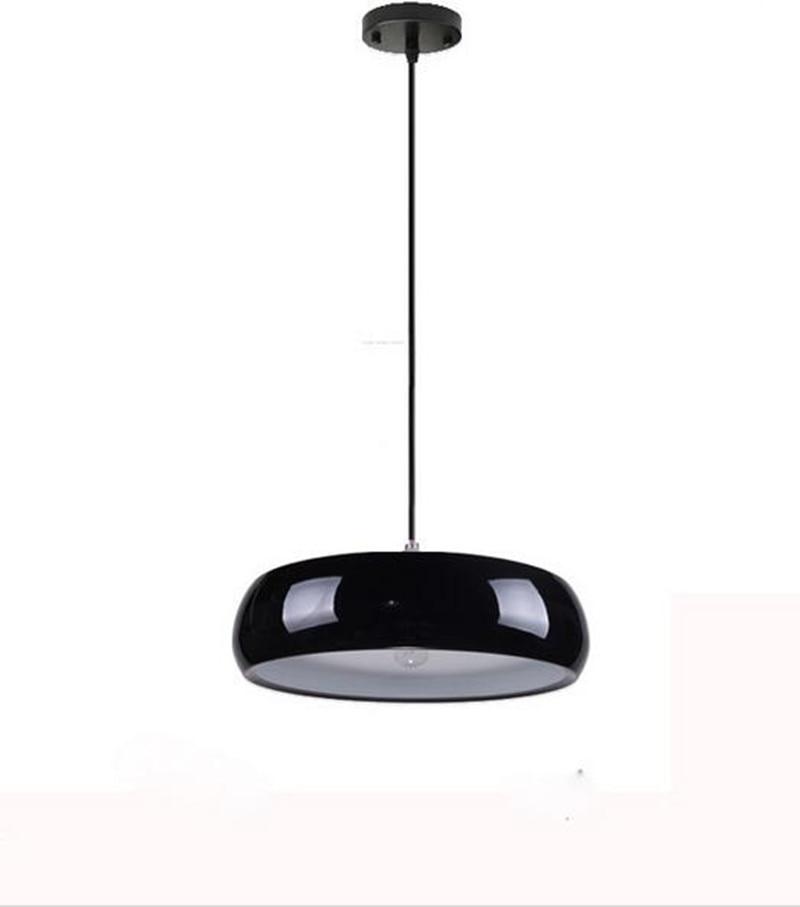Modern Brief Drum Shape Black/white Dining Room Pendent Lamp Bar Decoration  Iron E27 Light