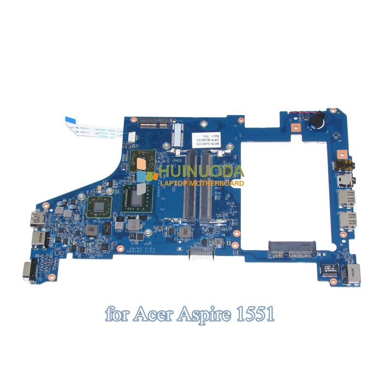 NOKOTION 48.4HX01.031 55.4HX01.221G MB.SBB01.003 MBSBB01003 For Acer aspire one 721 1551 laptop motherboard DDR3 laptop motherboard for aspire one 522 ao522 p0ve6 la 7072p mbsfh02001 amd c60 ddr3