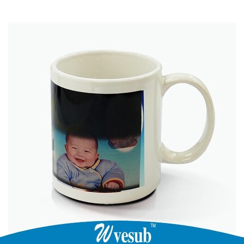 1pc Changing Color Magic Mug Ceramic Cup Heat Press Printing White Sublimation Personalized Sensitive
