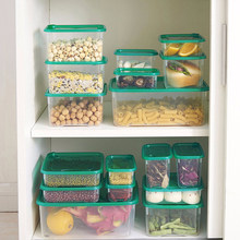 17 Pcs Multi Purpose PP Microwave Boxes Sealed Crisper Refrigerator Storage Organizer Lunch Box Hot Sale
