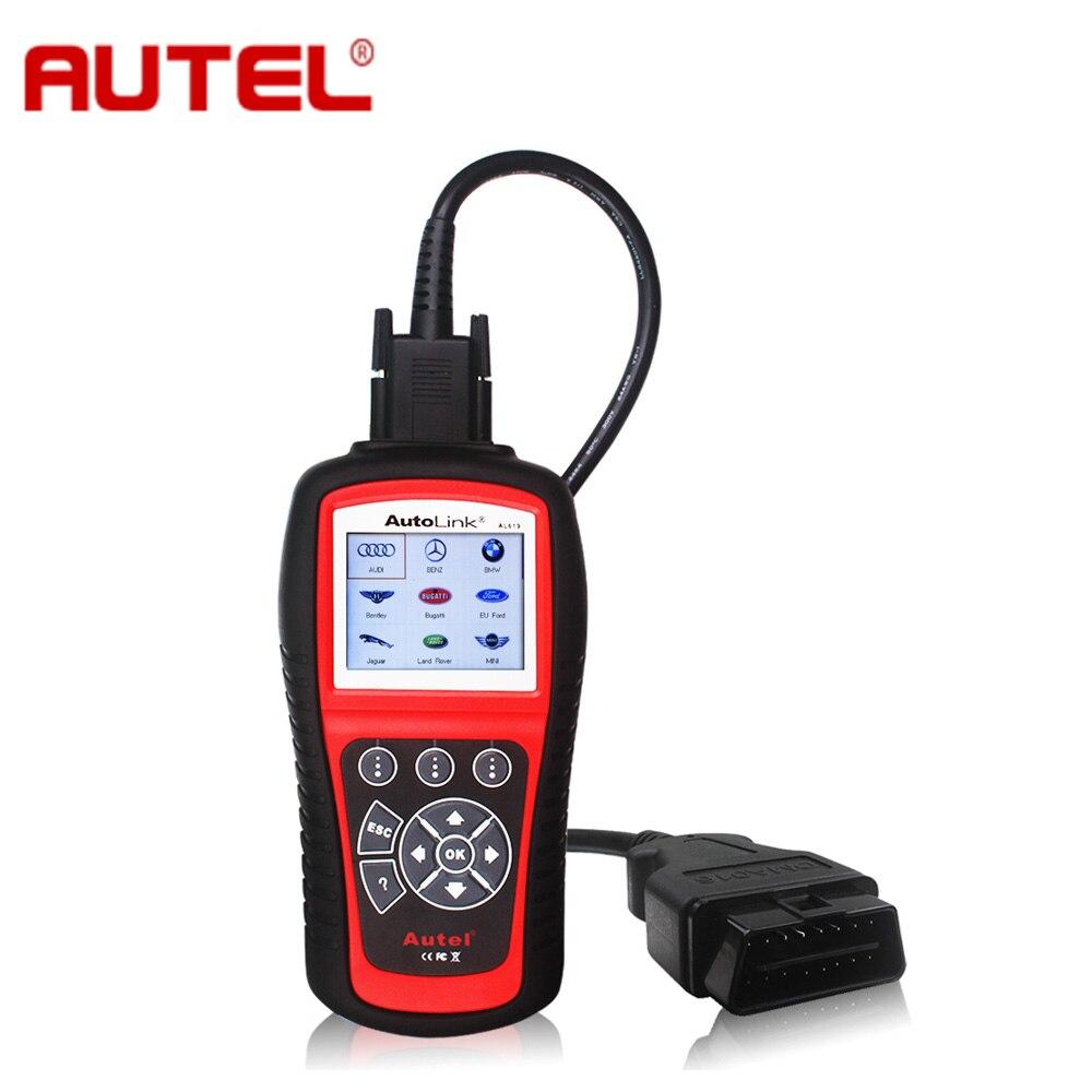 Цена за Оригинал Autel Автоссылка AL619 ABS/SRS + CAN OBDII диагностический сканирования выключите свет двигателя проверки очищает коды сбрасывает мониторов