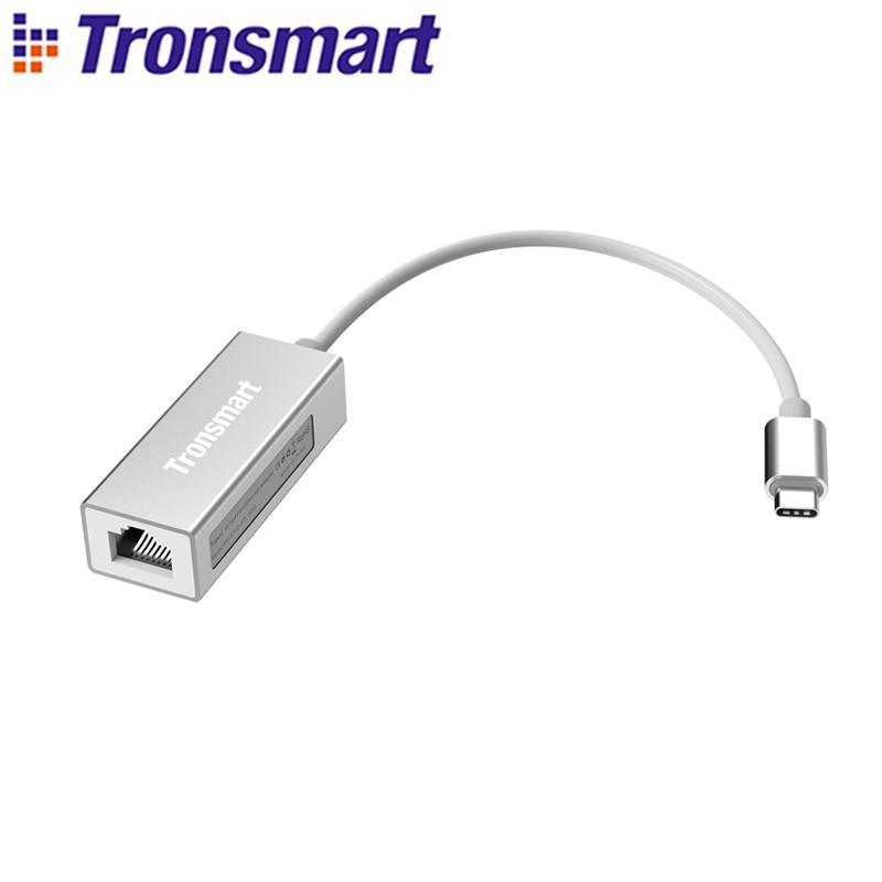 Tronsmart CTL01 USB3.0 Type-C Male to RJ45 Adapter Type C Transverter For LAN Type-C,Windows,Mac,Google,Chrome OSTronsmart CTL01 USB3.0 Type-C Male to RJ45 Adapter Type C Transverter For LAN Type-C,Windows,Mac,Google,Chrome OS
