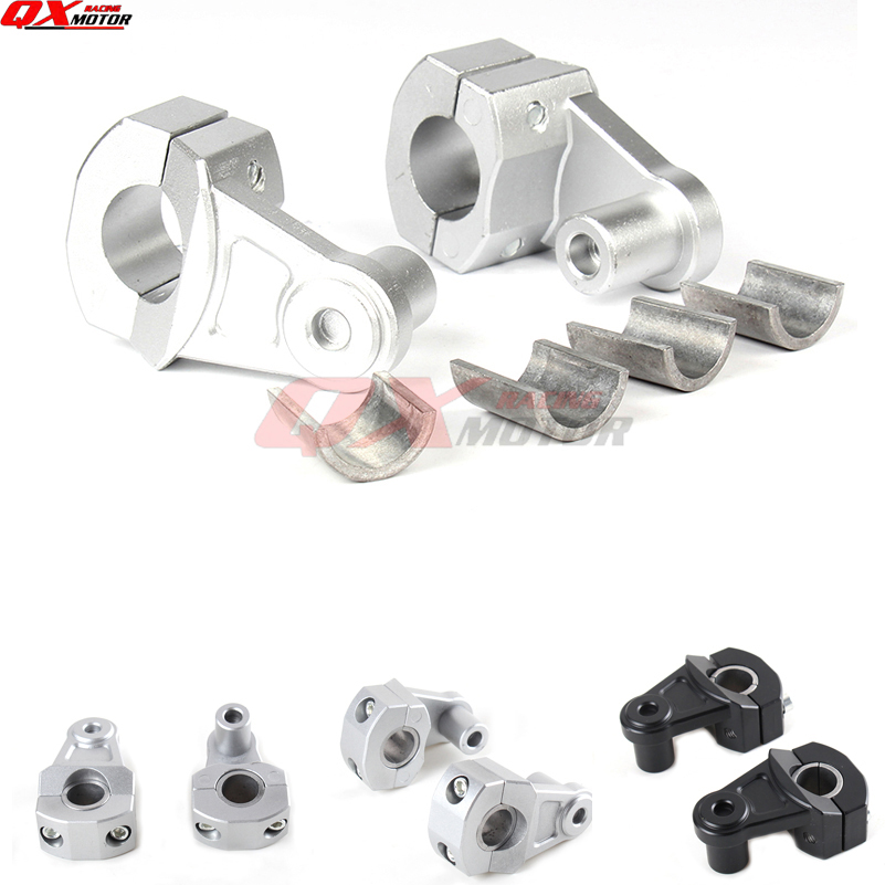 Universal Motorcycle Handlebar Clamps Riser add 5 5cm height for 22mm 28mm Bars Clamp 2 Inch Pivoting For crf yzf Supermoto
