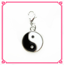 Hot selling 20pcs/lot YING YANG dangle charms living glass memory floating lockets diy jewelry accessory