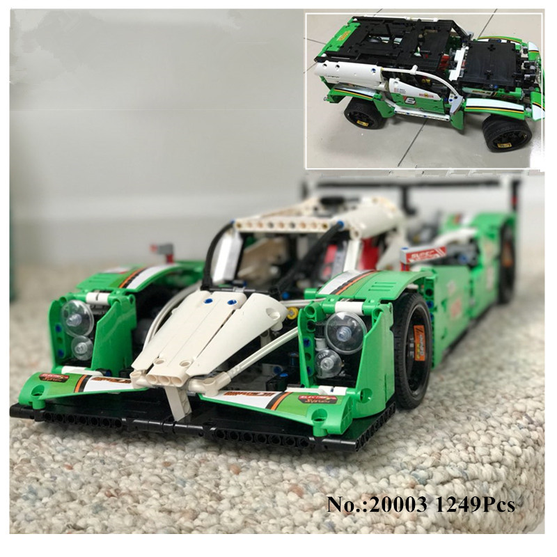 DHL H&HXY IN STOCK 1249PCS 20003 20003B The 24 hours Race Car Building Assembled Blocks Bricks Enlighten lepin Toys Gifts 42039 цена