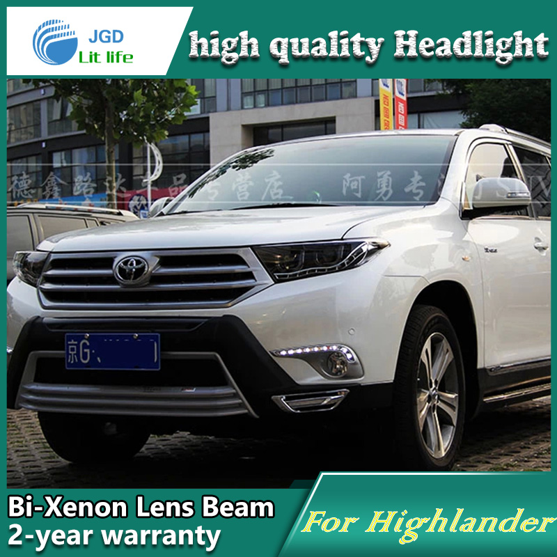 high quality Car Styling for Toyota Highlander 2012-2013 Headlights LED Headlight DRL Lens Double Beam HID Xenon Car Accessories