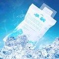 10 unids/lote 400 ML espesar nylon bolso Más Fresco bolsa de hielo en gel reutilizable para nevera de picnic de hielo seco de almacenamiento de alimentos caja fría puede enfriadores de gelo