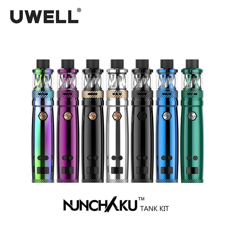 UWELL NUNCHAKU Vaporisateur Kit 5-80 W 2 ml/5 ml Réservoir Atomiseur 18650 Batterie Ou USB Charge cigarette électronique Kit