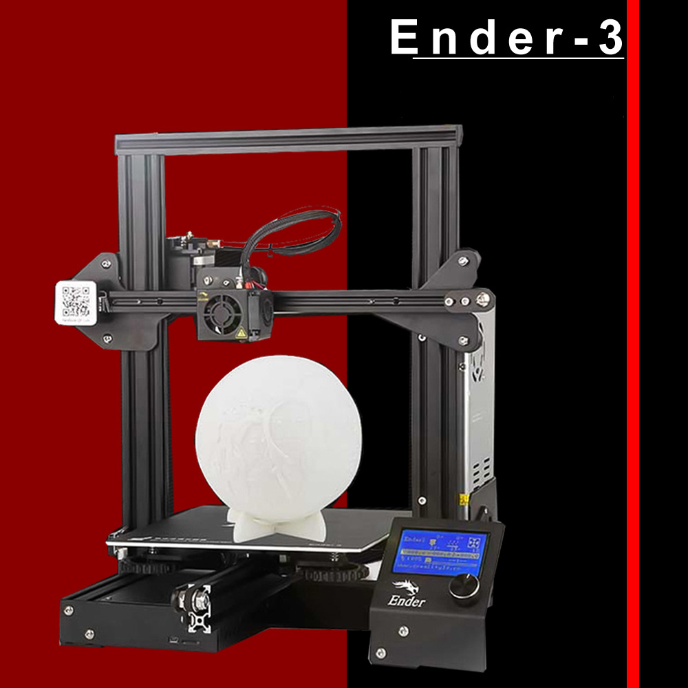 Creality 3D Ender-3 3D Printer High-precision DIY Kit Self-assemble with Resume Printing Function Add 1KG Filament Optional(China)
